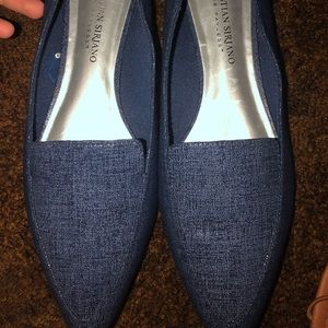 Christian Siriano Navy Blue Flats